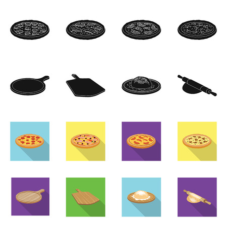 Vector illustration of pizza and food icon. Set of pizza and italy vector icon for stock. 矢量图像