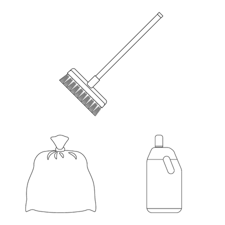 Isolated object of cleaning and service logo. Collection of cleaning and household vector icon for stock. Illustration