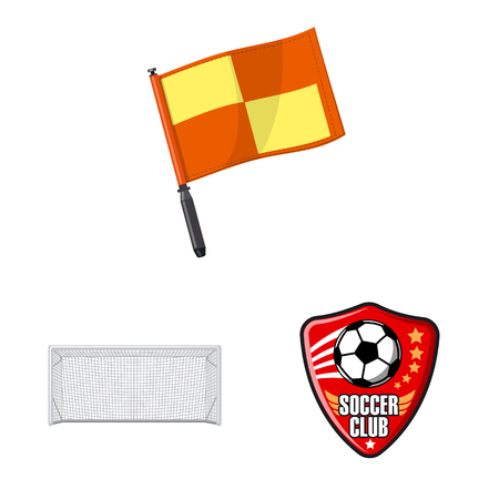 Vector design of soccer and gear sign. Collection of soccer and tournament stock symbol for web. Illustration