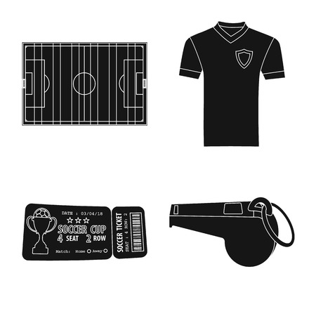 Isolated object of soccer and gear sign. Set of soccer and tournament vector icon for stock.