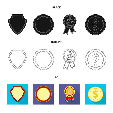 Vector design of emblem and badge logo. Collection of emblem and sticker vector icon for stock. Stock Illustratie