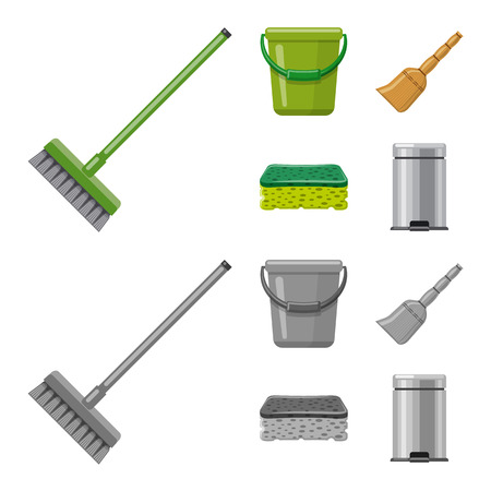 Vector design of cleaning and service sign. Set of cleaning and household vector icon for stock. Illustration