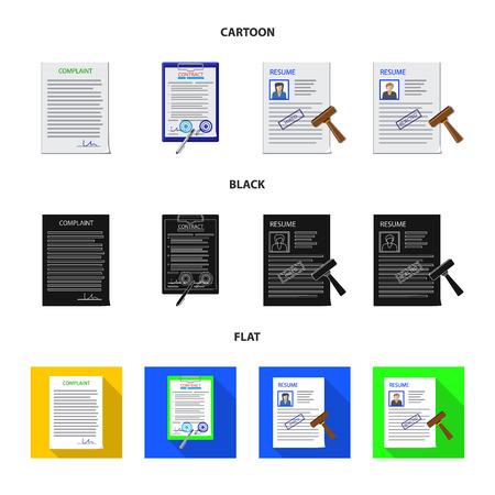Objet isolé du logo du formulaire et du document. Collection de forme et marque symbole boursier pour le web.