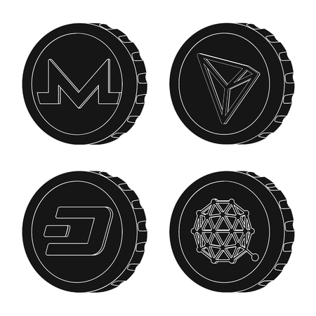 Vector design of cryptocurrency and coin icon. Collection of cryptocurrency and crypto stock symbol for web.