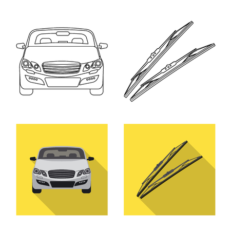 Vector illustration of auto and part logo. Collection of auto and car stock symbol for web. Foto de archivo - 113335100
