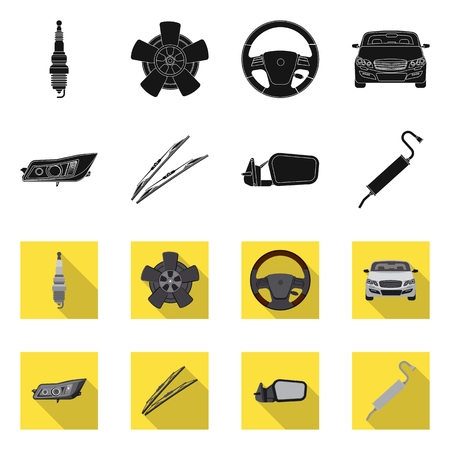 Isolated object of auto and part logo. Set of auto and car stock vector illustration. Illustration