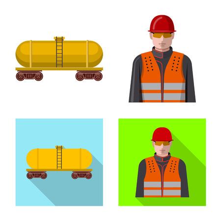 Vector design of oil and gas symbol. Set of oil and petrol stock symbol for web. Vektorgrafik