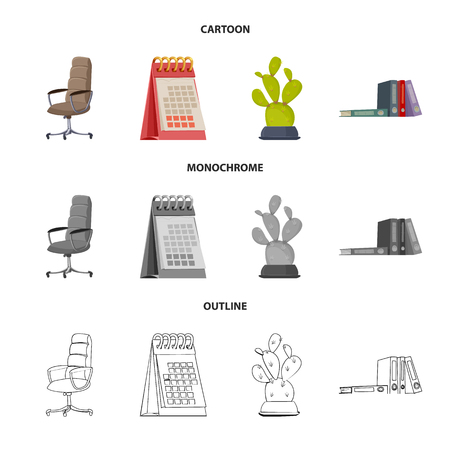 Vector design of furniture and work icon. Set of furniture and home vector icon for stock.