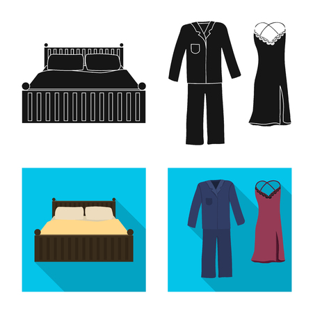 Vector illustration of dreams and night icon. Collection of dreams and bedroom stock vector illustration. Illustration