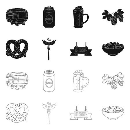 Isolated object of pub and bar icon. Set of pub and interior stock vector illustration. Illustration