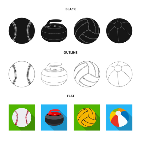 Vector design of sport and ball icon. Set of sport and athletic stock symbol for web. Illustration