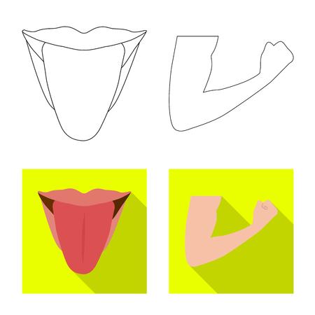 Vector illustration of human and part logo. Set of human and woman stock symbol for web. Illusztráció