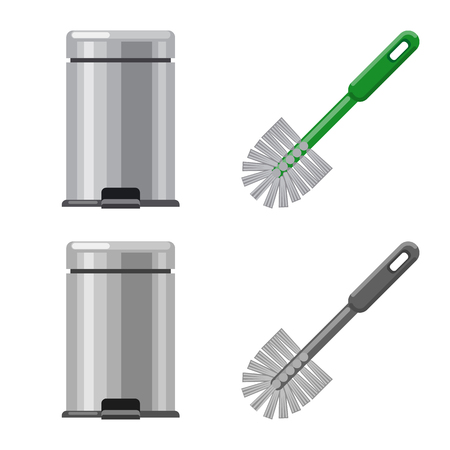 Vector illustration of cleaning and service sign. Set of cleaning and household stock vector illustration. Ilustração