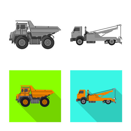 Vector design of build and construction icon. Set of build and machinery stock symbol for web. Stock Illustratie