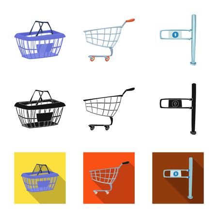 Vector illustration of food and drink symbol. Collection of food and store vector icon for stock. Illustration