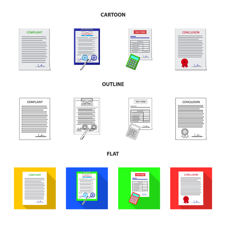 Vector design of form and document icon. Collection of form and mark stock vector illustration. Illustration