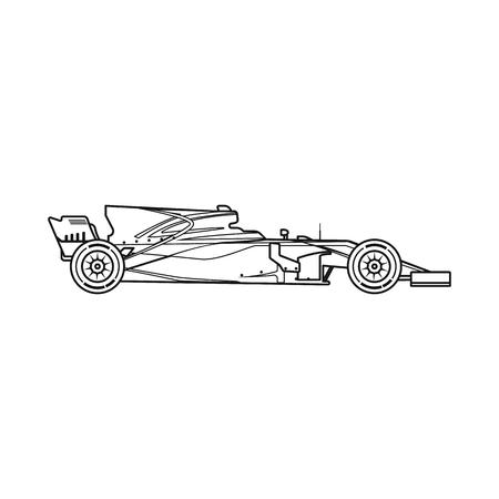Vektordesign des Autos und der Rallyeikone. Sammlung von Auto und Rennvektorikone für Lager. Vektorgrafik