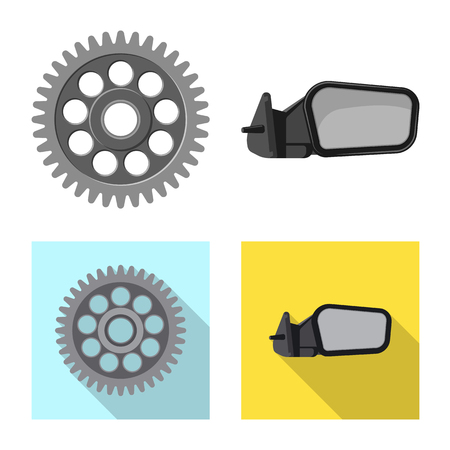Vector design of auto and part icon. Collection of auto and car vector icon for stock.