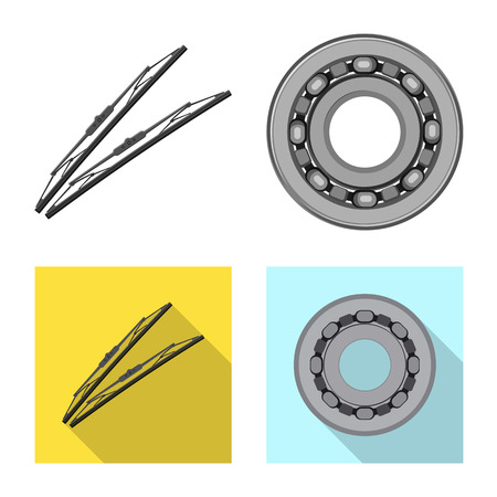 Isolated object of auto and part icon. Collection of auto and car vector icon for stock. Foto de archivo - 113856931
