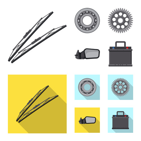 Vector design of auto and part logo. Collection of auto and car vector icon for stock.