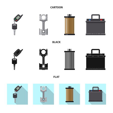 Vector design of auto and part symbol. Collection of auto and car vector icon for stock.