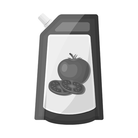Vector illustration of can and food symbol. Set of can and package stock vector illustration.
