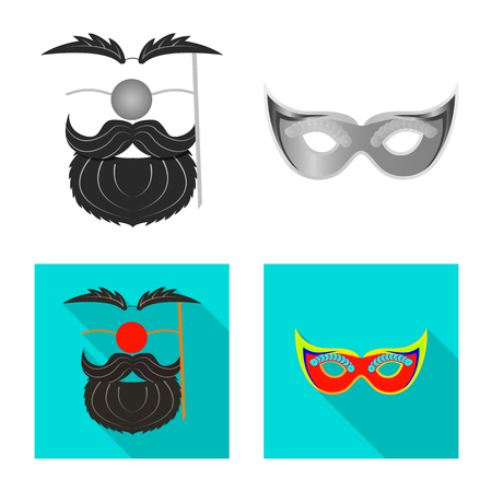 Vector design of party and birthday icon. Collection of party and celebration vector icon for stock. 일러스트