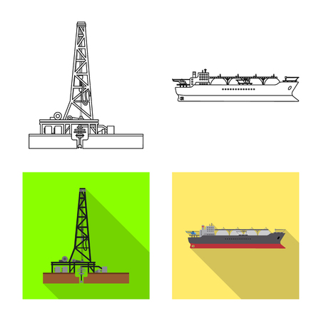Vector design of oil and gas logo. Set of oil and petrol vector icon for stock. Logó