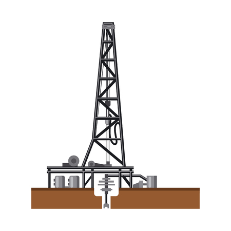 Vector illustration of oil and gas sign. Collection of oil and petrol vector icon for stock.