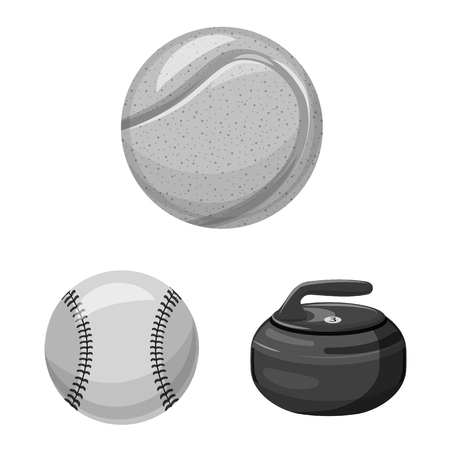 Vector design of sport and ball logo. Collection of sport and athletic vector icon for stock.