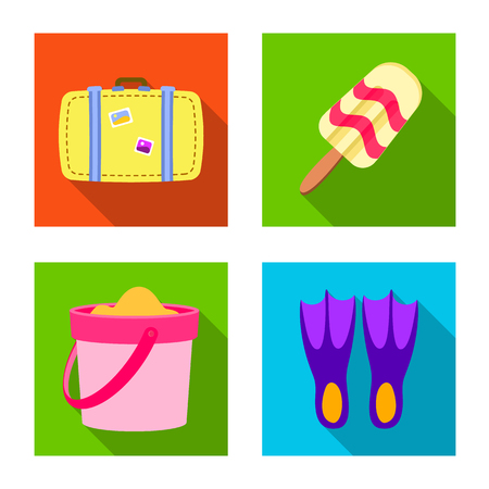 Isolated object of equipment and swimming symbol. Collection of equipment and activity vector icon for stock.