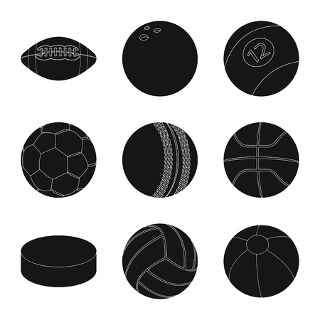 Isolated object of sport and ball logo. Set of sport and athletic vector icon for stock.