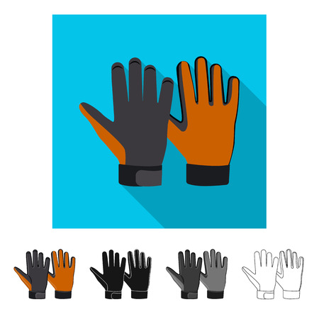 Vector design of glove and winter logo. Set of glove and equipment vector icon for stock. Banque d'images - 114083153