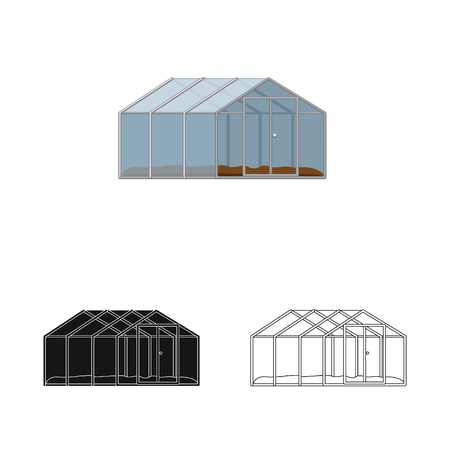 Vector illustration of greenhouse and plant logo. Collection of greenhouse and garden stock symbol for web. Illustration