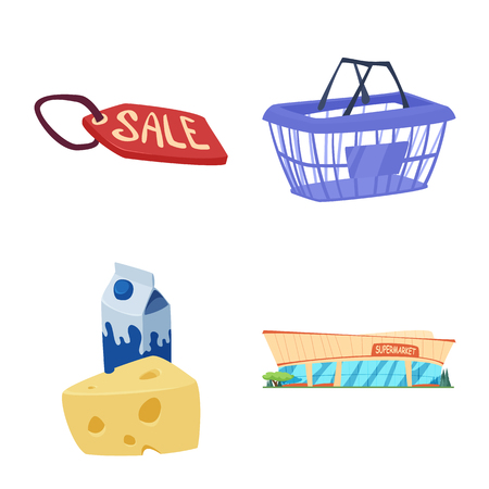 Isolated object of food and drink sign. Collection of food and store stock symbol for web.