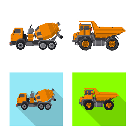 Vector design of build and construction sign. Collection of build and machinery stock symbol for web. Imagens - 114088483