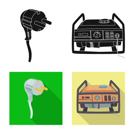 Vector design of electricity and electric icon. Set of electricity and energy vector icon for stock. Фото со стока - 114088554