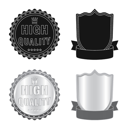 Isolated object of emblem and badge sign. Set of emblem and sticker stock symbol for web.