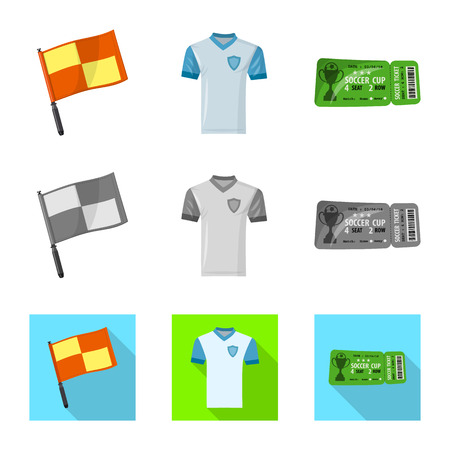 Vector illustration of soccer and gear logo. Set of soccer and tournament stock symbol for web.