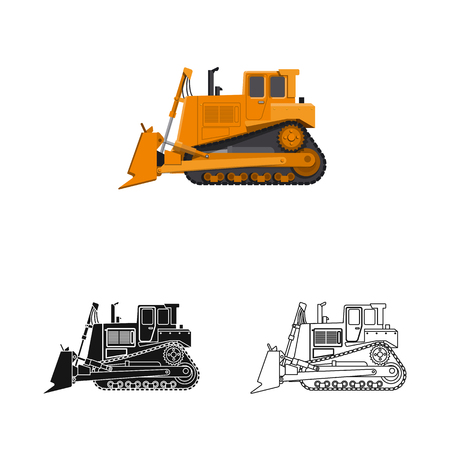 Vector illustration of build and construction logo. Collection of build and machinery stock symbol for web. Illustration
