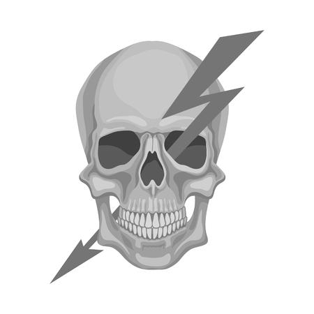Diseño vectorial de electricidad e icono eléctrico. Colección de símbolo de stock de electricidad y energía para web.