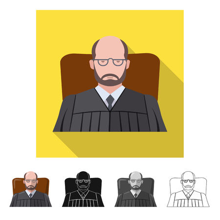 Vector illustration of law and lawyer symbol. Collection of law and justice stock symbol for web.