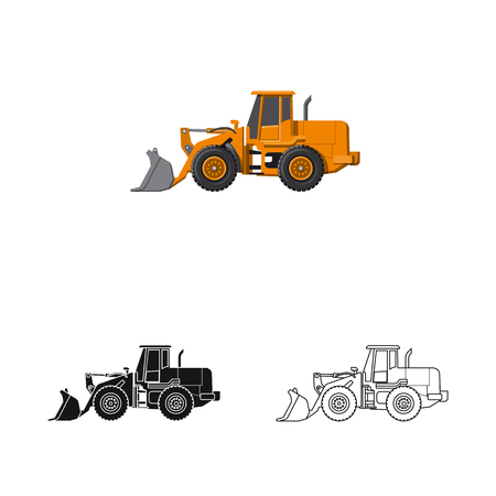 Vector design of build and construction logo. Collection of build and machinery stock vector illustration.