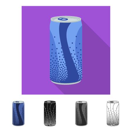 Vector illustration of drink and bar symbol. Collection of drink and party stock symbol for web. Banco de Imagens - 114157639