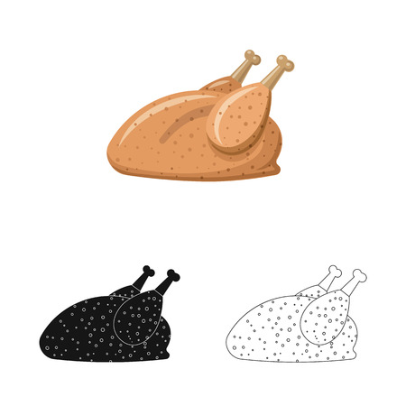 Isolated object of meat and ham icon. Collection of meat and cooking stock vector illustration. Stock fotó - 114159157
