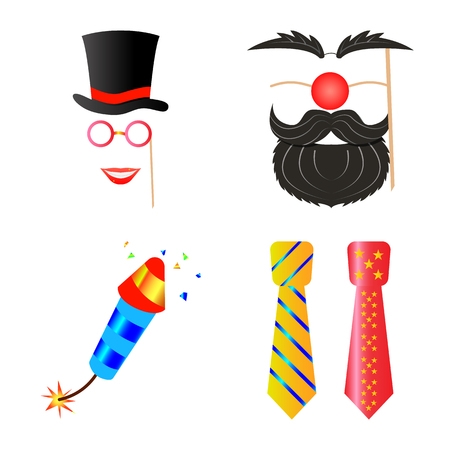Isolated object of party and birthday sign. Set of party and celebration vector icon for stock. Ilustração Vetorial
