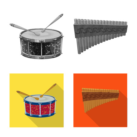 Vector illustration of music and tune icon. Collection of music and tool vector icon for stock.