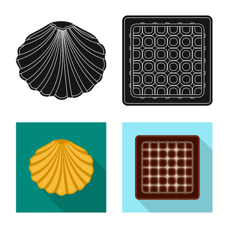 Vector illustration of biscuit and bake icon. Collection of biscuit and chocolate stock symbol for web.