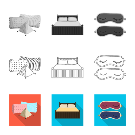 Vector design of dreams and night logo. Collection of dreams and bedroom vector icon for stock. Stock Illustratie