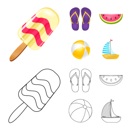 Vector design of equipment and swimming logo. Collection of equipment and activity stock vector illustration.